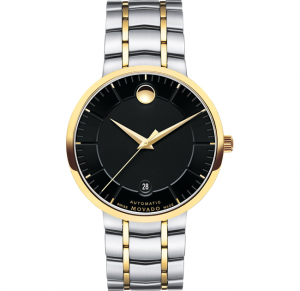 đồng hồ MOVADO 1881 AUTOMATIC BLACK MEN'S WATCH 39.5MM