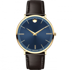 Đồng hồ Movado ULTRA SLIM BLUE SUNRAY MEN'S WATCH 40MM