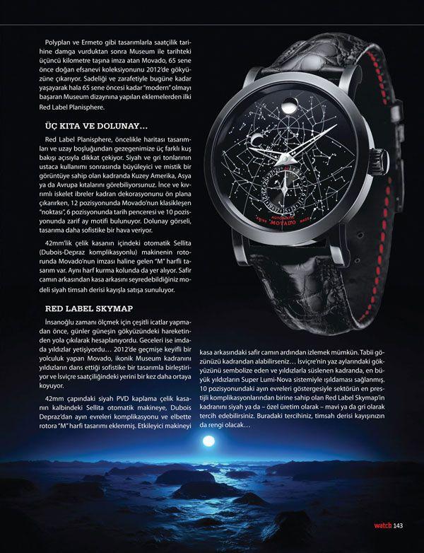 Đồng hồ Movado Red Label Skymap