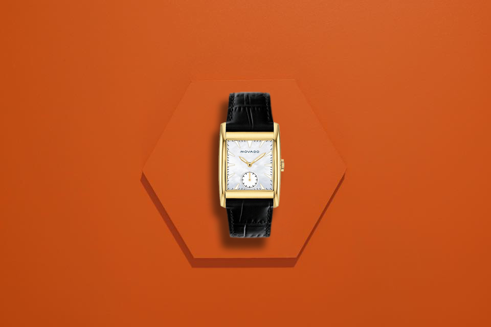 đồng hồ Movado Heritage Series Rectangle Dial 1