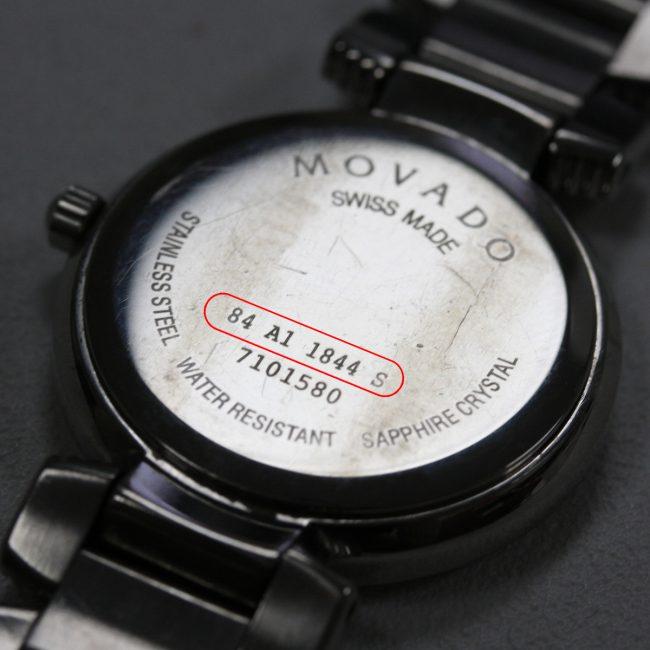 Nắp lưng đồng hồ Movado