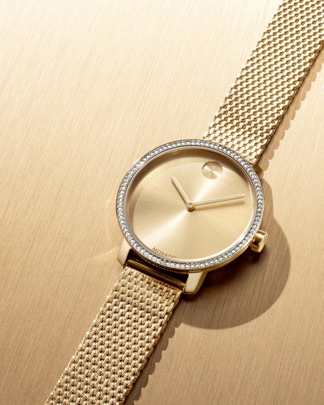 đồng hồ Movado kim cương cao cấp chính hãng