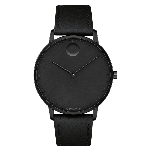 Movado 3640002 Face Black Ion-Plated Watch 41mm