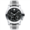 Movado Chronograph Vizio Carbon Fiber Bracelet Watch 45mm