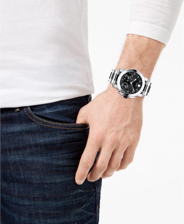 Movado Chronograph Vizio Carbon Fiber Bracelet Watch 45mm