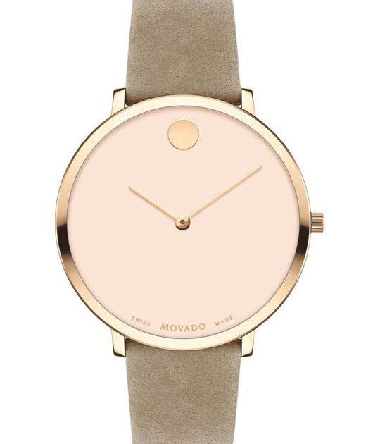 Movado Modern 47 Taupe Watch 35mm